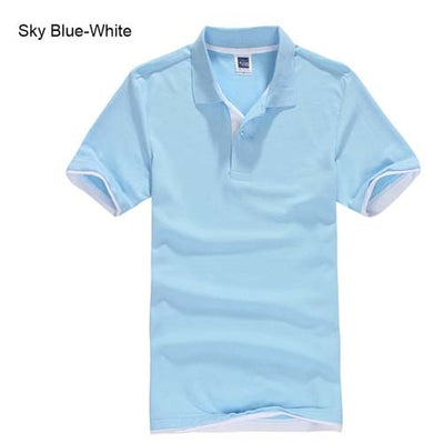 Polo T-Shirts sky blue white / XXXL - Men Tops & Tees | MegaMallExpress.com