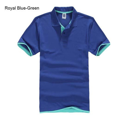 Polo T-Shirts royal blue Green / XXXL - Men Tops & Tees | MegaMallExpress.com