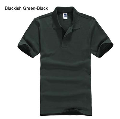 Polo T-Shirts blackish green black / XXXL - Men Tops & Tees | MegaMallExpress.com