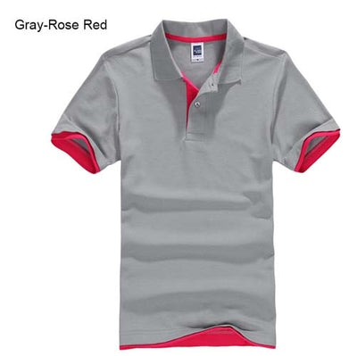 Polo T-Shirts gray Rose red / XXXL - Men Tops & Tees | MegaMallExpress.com