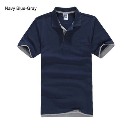 Polo T-Shirts navy blue Grey / XXXL - Men Tops & Tees | MegaMallExpress.com