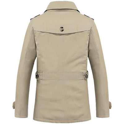 Men's Single Breasted Trench Coat  - Men Jackets & Coats | MegaMallExpress.com