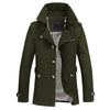 Men's Single Breasted Trench Coat Amy Green / 5XL - Men Jackets & Coats | MegaMallExpress.com