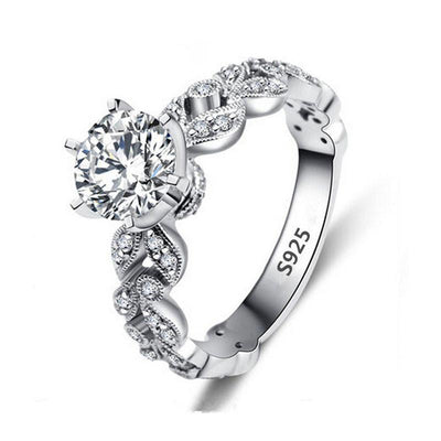 1.5 Carat CZ Ring 9 / Silver - Wedding & Engagement | MegaMallExpress.com