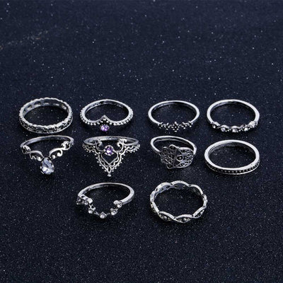 Bohemian Hollow Ring Set  - Casual Rings | MegaMallExpress.com