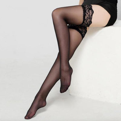Women's Lace Pantyhose L Black / OSFA - Women Socks & More | MegaMallExpress.com