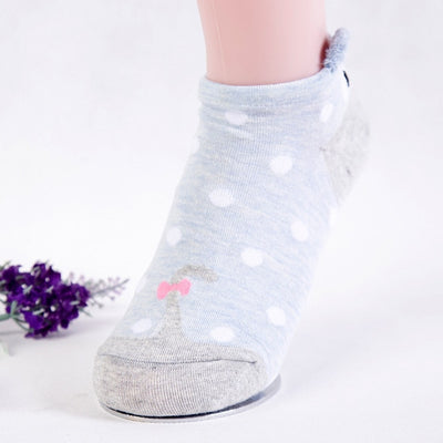 Women Animal Print Cotton Socks Gray-E / One Size - Women Socks & More | MegaMallExpress.com