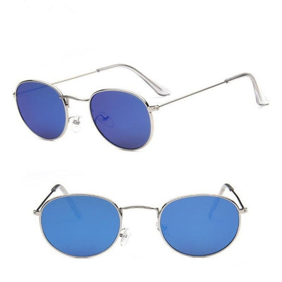 Women Classic Round Sunglasses Blue - Women Sunglasses | MegaMallExpress.com