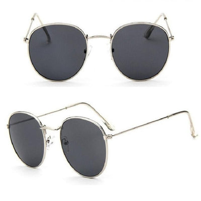 Women Classic Round Sunglasses Gray - Women Sunglasses | MegaMallExpress.com