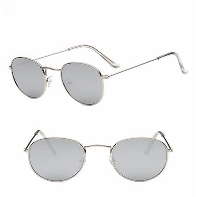 Women Classic Round Sunglasses Silver - Women Sunglasses | MegaMallExpress.com
