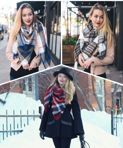 Women Plaid Scarf  - Women Socks & More | MegaMallExpress.com
