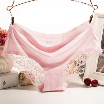 Women Luxurious Lace Panties pink / XL - Women Intimates | MegaMallExpress.com