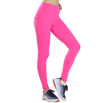 ufeffWomen Push Up Leggings Solid Colors Rose / XL - Women Bottoms | MegaMallExpress.com