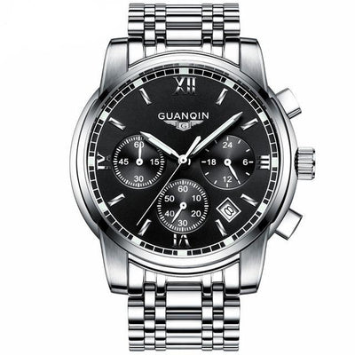 Luxury Business Wrist Watch silver black B - Men Watches | MegaMallExpress.com