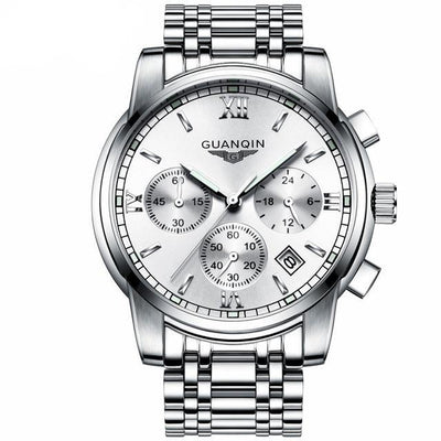 Luxury Business Wrist Watch silver white B - Men Watches | MegaMallExpress.com