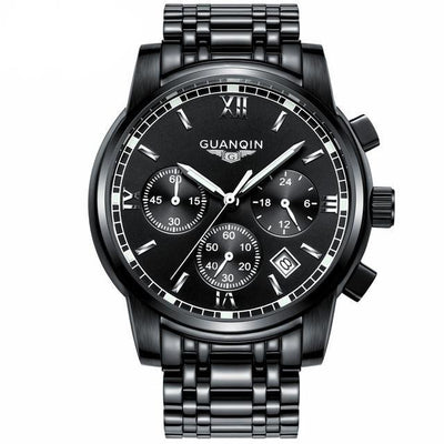 Luxury Business Wrist Watch all black B - Men Watches | MegaMallExpress.com