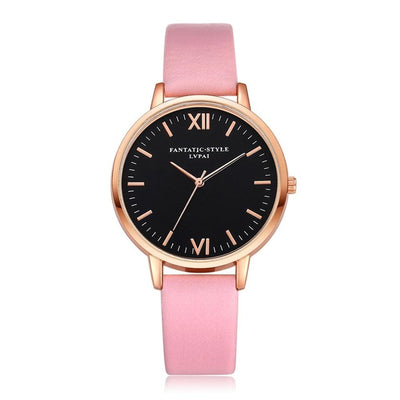 Women Gold Color Large Face Watch Pink Rose Gold - Women Watches | MegaMallExpress.com