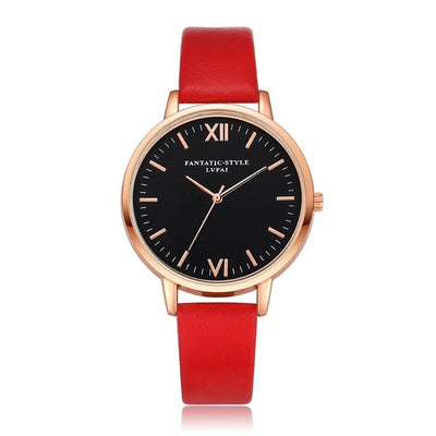 Women Gold Color Large Face Watch Red Rose Gold - Women Watches | MegaMallExpress.com