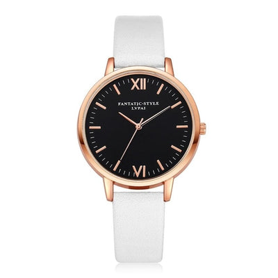 Women Gold Color Large Face Watch White Rose Gold - Women Watches | MegaMallExpress.com