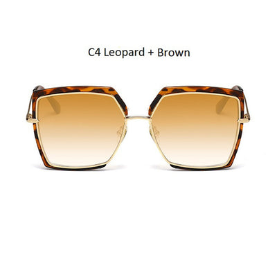 Women Oversized Cat Eye Shades Light Brown/Brown - Women Sunglasses | MegaMallExpress.com