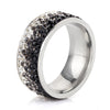Crystal Ring 12 / Black - Formal Rings | MegaMallExpress.com