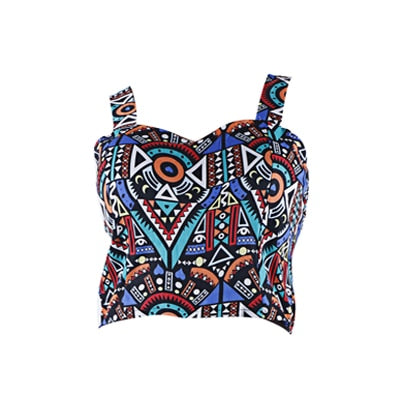 Women Cropped Tank Top In a Variety of Prints and Colors F2 crop tops / One Size - Women Tops & Tees | MegaMallExpress.com