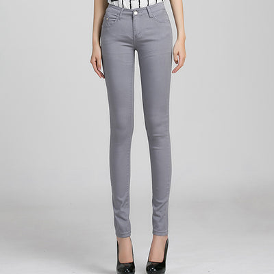 Women Candy Color Jeans Gray / 31 - Women Bottoms | MegaMallExpress.com