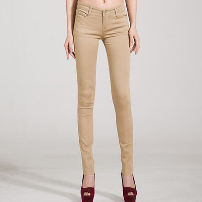 Women Candy Color Jeans Khaki / 31 - Women Bottoms | MegaMallExpress.com