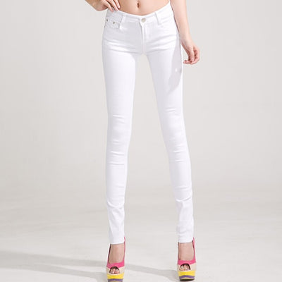 Women Candy Color Jeans White / 31 - Women Bottoms | MegaMallExpress.com