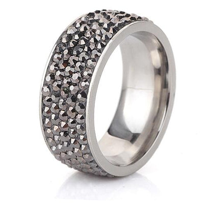 Crystal Jewelry Ring Gray / 8 - Wedding & Engagement | MegaMallExpress.com