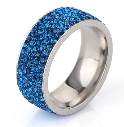 Crystal Jewelry Ring Blue / 8 - Wedding & Engagement | MegaMallExpress.com