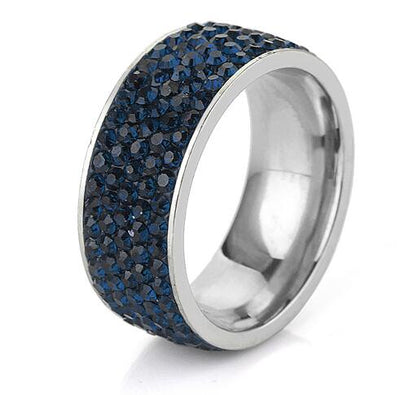 Crystal Jewelry Ring Navy Blue / 8 - Wedding & Engagement | MegaMallExpress.com