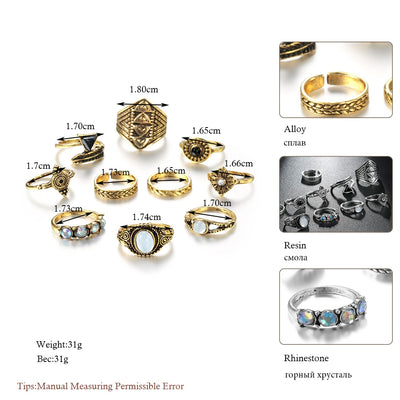 Boho Ring Set  - Casual Rings | MegaMallExpress.com