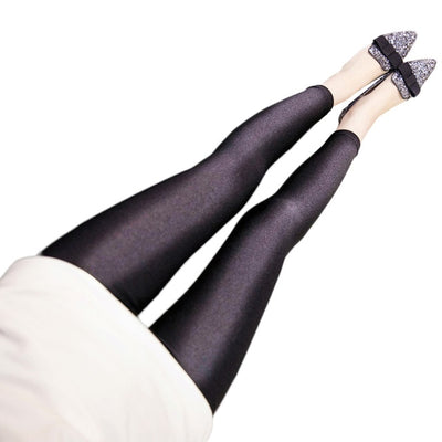 Women Black Leggings Black / 5XL - Women Bottoms | MegaMallExpress.com