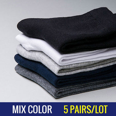 5 Pairs/Lot Men Dress Socks Mix color / 39-45 - Men Socks | MegaMallExpress.com