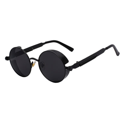 Women Retro Round Sunglasses All Black - Women Sunglasses | MegaMallExpress.com