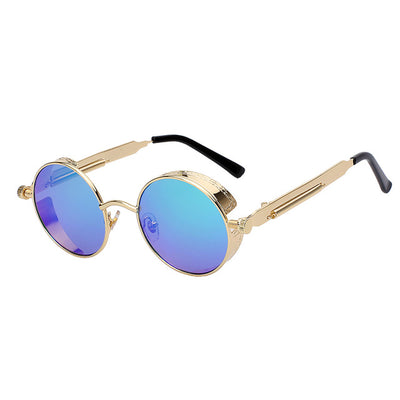 Women Retro Round Sunglasses Green Mirror - Women Sunglasses | MegaMallExpress.com