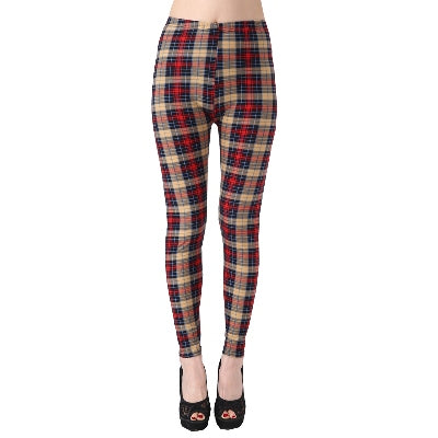 Women Printed Pattern Leggings B44 / One Size - Women Bottoms | MegaMallExpress.com