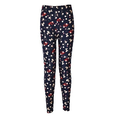 Women Printed Pattern Leggings BN08 / One Size - Women Bottoms | MegaMallExpress.com
