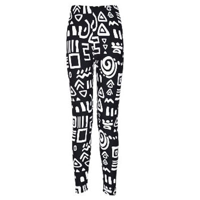 Women Printed Pattern Leggings BN22 / One Size - Women Bottoms | MegaMallExpress.com