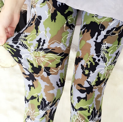 Women Printed Pattern Leggings B37 / One Size - Women Bottoms | MegaMallExpress.com