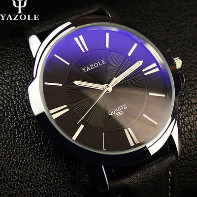 Men's Blue Glass Watch  - Men Watches | MegaMallExpress.com