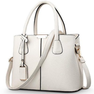 Ladies Large Tote Bags beige / 29.5x13x21.5cm - Women Handbags & Purses | MegaMallExpress.com