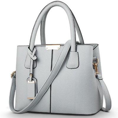 Ladies Large Tote Bags light gray / 29.5x13x21.5cm - Women Handbags & Purses | MegaMallExpress.com