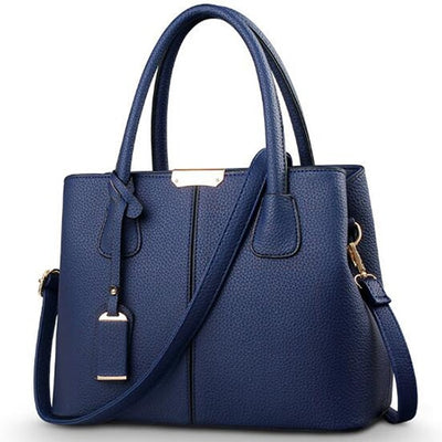 Ladies Large Tote Bags dark blue / 29.5x13x21.5cm - Women Handbags & Purses | MegaMallExpress.com