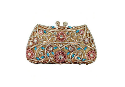 Women's Sparkling Silver Crystal Clutches Red 3 / 18 x 5 x 10 cm - Women Handbags & Purses | MegaMallExpress.com