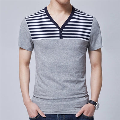 Short Sleeve Polo T-Shirt 6617 Grey / XXXL - Men Tops & Tees | MegaMallExpress.com