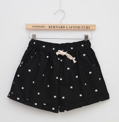 Women Print Shorts Black / One Size - Women Bottoms | MegaMallExpress.com