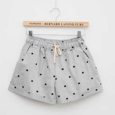Women Print Shorts Gray / One Size - Women Bottoms | MegaMallExpress.com