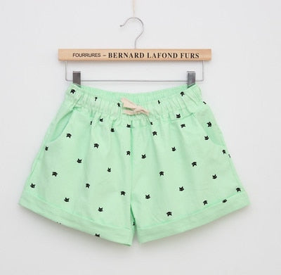 Women Print Shorts Green / One Size - Women Bottoms | MegaMallExpress.com